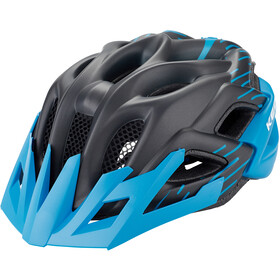 KED Status Jr. Helmet Kinder black blue matt